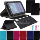"For Alcatel One Touch 7"" Tablet Bluetooth Keyboard Universal Leather Stand Case"