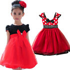 Red Tutu Dress Baby Kids Girl Formal Party Clothes Princess Tulle Skirt 1-8Years