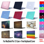 For MacBook Pro 13 Rubberized Hard Case Cover + Keyboard Cover