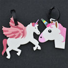 1pc Unicorn Luggage Tag Boarding PVC Travel Accessorie Baggage Suitcase Carry