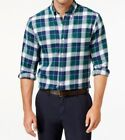 John Ashford New Men's Long-Sleeve Plaid Flannel Button-Down Shirt
