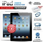 Apple Ipad 4th Generation Black White 16 32 64gb Retina Pc Tablet (wifi Only)