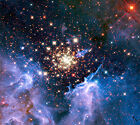Cluster Shows Celestial Fireworks A2+ High Quality Canvas Print