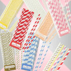 30 x Talking Tables Paper Straws Drinks Party Tableware Mix Match Striped Summer
