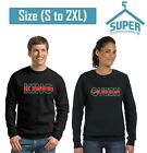 King Queen Sweatshirt CREWNECK GREEN RED Line Fashion Style Couple Crewneck Swea