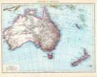 Australien und Neuseeland 1881 Map 75cm x 60cm High Quality Art Print