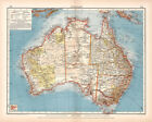 Australien 1905 Map 75cm x 60cm High Quality Art Print