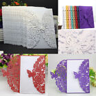 laser cut card - 10pcs Invitation Cards for Wedding Party Butterfly Laser Cut Vertical White