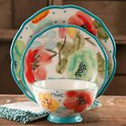 Decorated Dinnerware Set,12-Piece Ceramics Round Dining Plate And Bowl- Floral