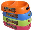 Dog Feeding Bowls 2 in 1 Plastic Feeding Bowl Pet Bowl With Handle