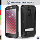 LG Aristo 2 / Tribute Dynasty Case with Tempered Glass, Kickstand & Holster Clip