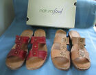 """Natural Soul by Naturalizer Sandals """"CALICO""""  sz 8.5  Venom Red or Tender Taupe"""