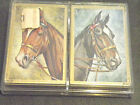 VINTAGE SEALED DOUBLE DECK HORSE HEAD HOYLE PLAYING CARS PLASTIC COATED IN CASE