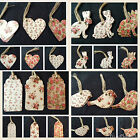 15 VINTAGE GIFT TAGS ROSE BIRTHDAY LUGGAGE LABELS WEDDING PLACE CARDS CRAFT