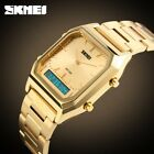 New Gold Classic Men's Quartz Analog & LED Digital Stainless Steel Wrist Watch image