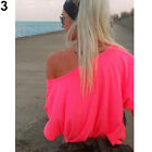 Women's Off-shoulder Short Sleeve T-shirt Blouse Tops Summer Plus Size Clothes