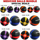 Fitness Maniac Weighted Medicine Ball Deals Gym Body Workout 8/10/12/14/16 lbs image
