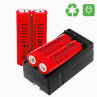 UF 18650 Battery 3000mAh Li-ion 4.2V Rechargeable Batteries for Torch USA stock