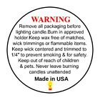 """Внешний вид - 50/1000 LOTS 1.5"""" CANDLE WARNING / CAUTION LABELS for CANDLES .      Made in USA"""
