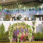 12x Bunches Artificial Silk Wisteria String Wedding Plant Hanging Flowers Vine