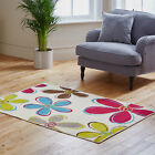 NEW FLORAL CREAM MULTI ATTRACTIVE DESIGN RUG QUALITY MODERN RUG CLEARANCE RUG