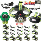 36000LM LED Headlamp Rechargeable Headlight Torch Lamp Charger&18650Battery