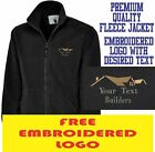 Personalised Embroidered Builder Fleece Jacket Building services Workwear Logo