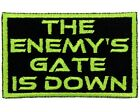 """""""The Enemy's Gate Is Down"""" Patch - Ender's Game Patch - Orson Scott Card Patch"""