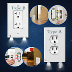 Pro Duplex Night Angel Light Sensor LED Plug Cover Wall Outlet Coverplate Lots