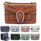 New Studded Design Metal Detail Faux Leather Ladies Small Shoulder Bag Handbag