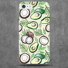 Avocado and Coconut Phone Case Peach Green Leaves Floral Avocados Coconuts 2