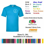 Value Custom Embroidered T-Shirt Unisex Personalised Workwear Event T-Shirt