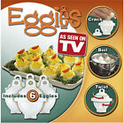 NEW Egglettes Eggies Boiled Eggs Without Shells SET As Seen On TV!!!