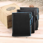Men's Faux Leather ID credit Card holder Bifold Coin Purse Wallet Pockets LOT WA