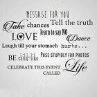 'Message for You...' Quote BIG SIZES Reusable Stencil Wall Decor Modern Room N75