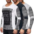 Redbridge Men's Longsleeve Shirt Pullover Slim Fit T-Shirt Born2BeFamous