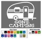 Gone Camping Decal Window Bumper Sticker Car RV Motor Home Camper Glamping