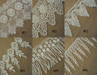 "4'' - 5.5"" Wide Rayon Venise Vintage Victorian Floral Lace Ivory 6 Pattern zhs10"