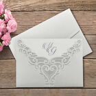 50 Personalised Wedding Invitations Laces Laser Cut Free P*P FREE ENVELOPES !