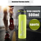 Water Bottle Insulated Thermos 500ml Simple Creative Straw Sports Portable Cup