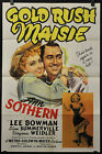 GOLD RUSH MAISIE 1940 ORIG 27X41 MOVIE POSTER ANN SOTHERN LEE BOWMAN