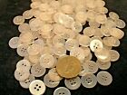 New lots of 100 or 50 translucent white pearl finish buttons  9/16 = 14.5mm  #W9