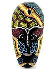 asian green eyes - African Wood Mask Hand Carved Thai Tribal Asian Wooden Painted Decorative 7.5