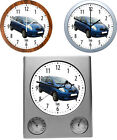 Wall+Clock+with+Car+Motif+%3A+Car+Brand+T+-+3+Various+Watch+Models+Car