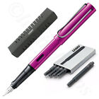 Lamy Al-Star Vibrant Pink Fountain Pen + 5 Black T10 Ink (Choose Your Nib Size)