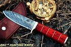 DKC-723 TRINITY Damascus Steel Bowie Hunting Handmade Knife Fixed Blade 11 oz 10