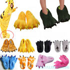 slippers for flat feet - Cartoon Animal Slippers Adults Kids Paw Claw Shoes Home Indoor Plush Warm Flats