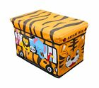 Global Decor Toy-Stor Kid Decor Children's Storage Container/Stool, Safari Tr...