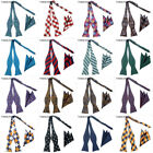 Mens Self Tied Bow Tie Hanky Set Silk Handkerchief Bowtie Self-tied Ties Sets