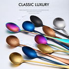 Stainless Steel Rainbow Long Handled Coffee Spoon Cold Drink Ice Cream Tea Spoon
